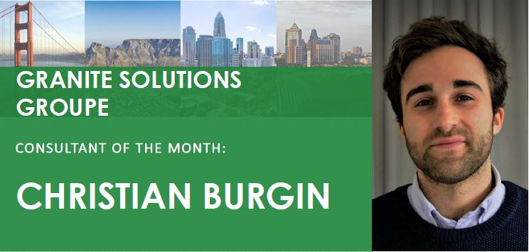 Photo of Consultant of the Month Christian Burgin